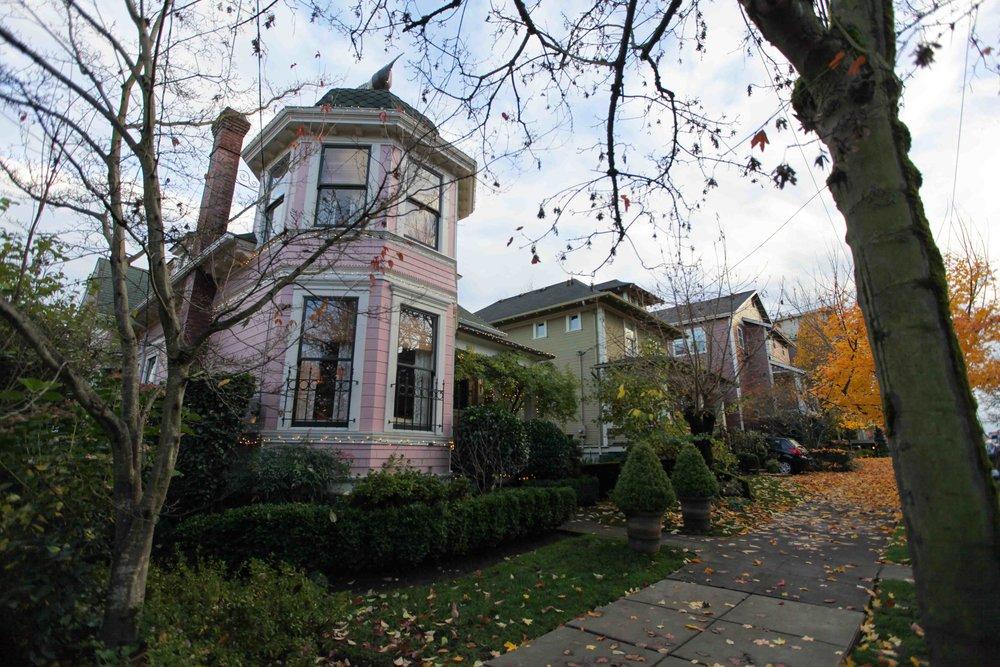Houses on Corbett Avenue