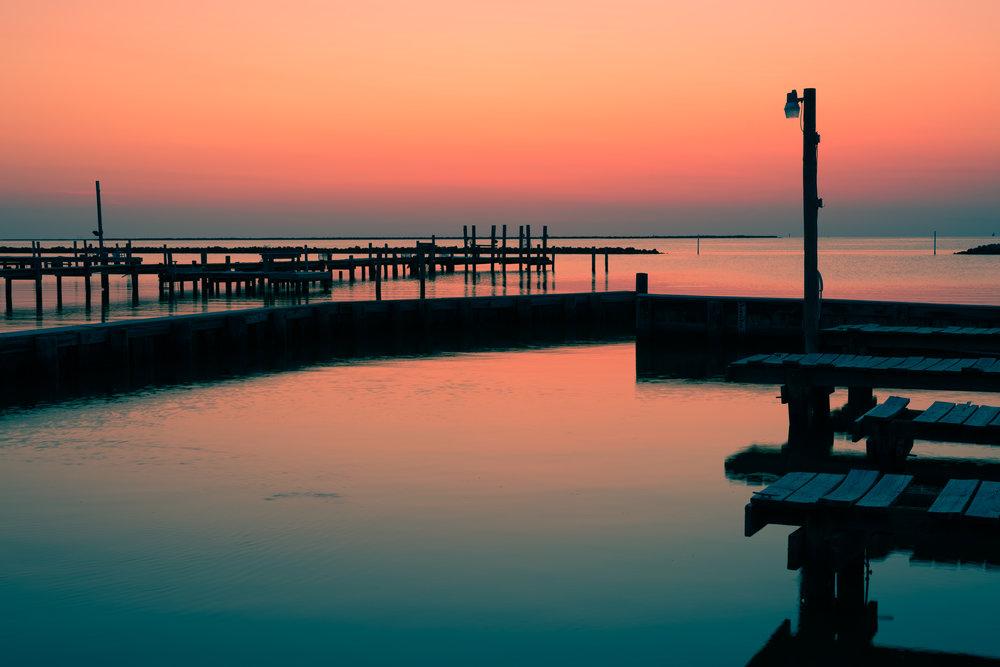 sunset on Grand Isle
