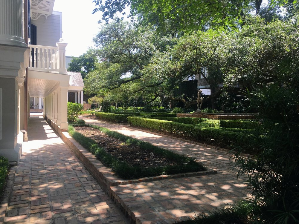 Side of the house and garden in the Garden District