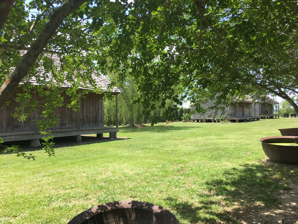 Cabins where enslaved workers lived at the Whitney Plantation