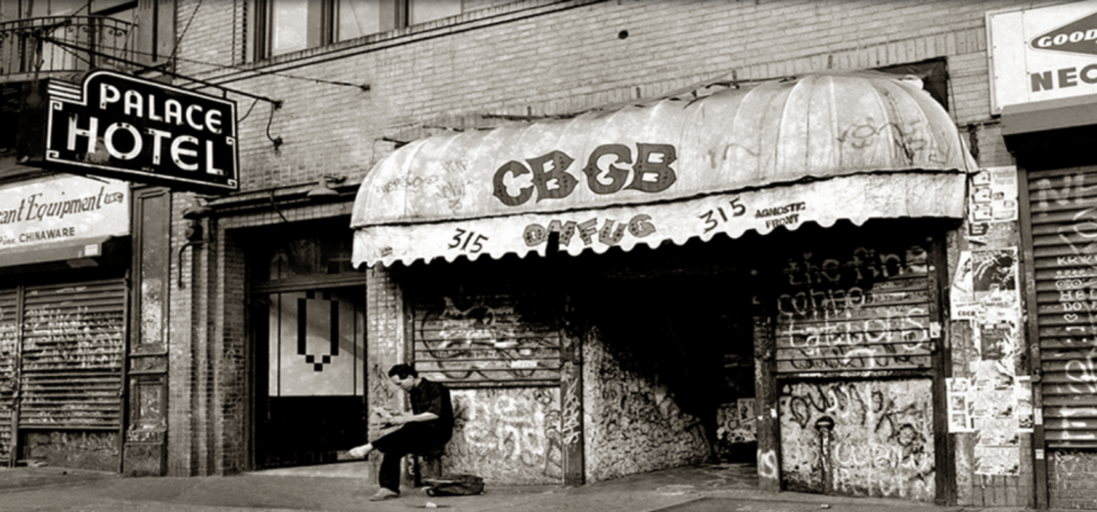 Rock club CBGB at 315 Bowery back in the day (c. Greenlabel)