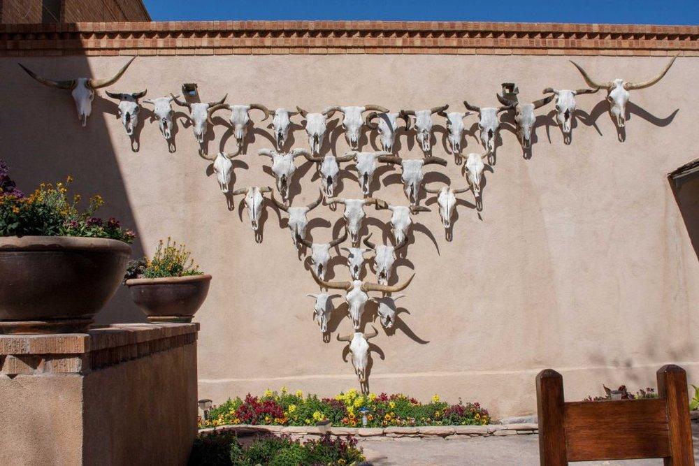 Gage Hotel skulls