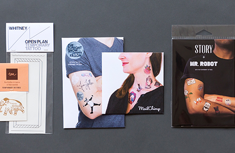 Bring on the fun and make a statement with Tattly temporary tattoos. Make a design for your next big event or promotion. Use them as giveaways, at trade shows, or package multiple designs for retail. Learn more about custom Tattly  here .