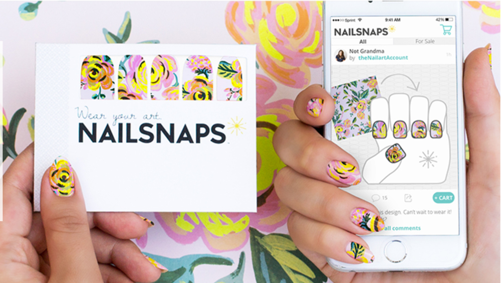Design custom nails from any photo or pattern with the NailSnaps app. Your order is printed as 20 high-quality nail wraps and shipped to your door. Learn more about custom NailSnaps here.