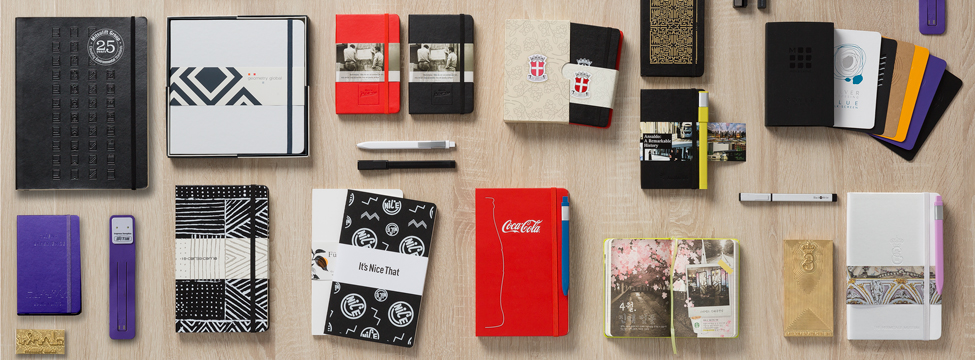 Create a customized Moleskine item for your company gifting activities, loyalty programs, special events and anniversaries. Learn more about custom edition Moleskine notebooks  here .