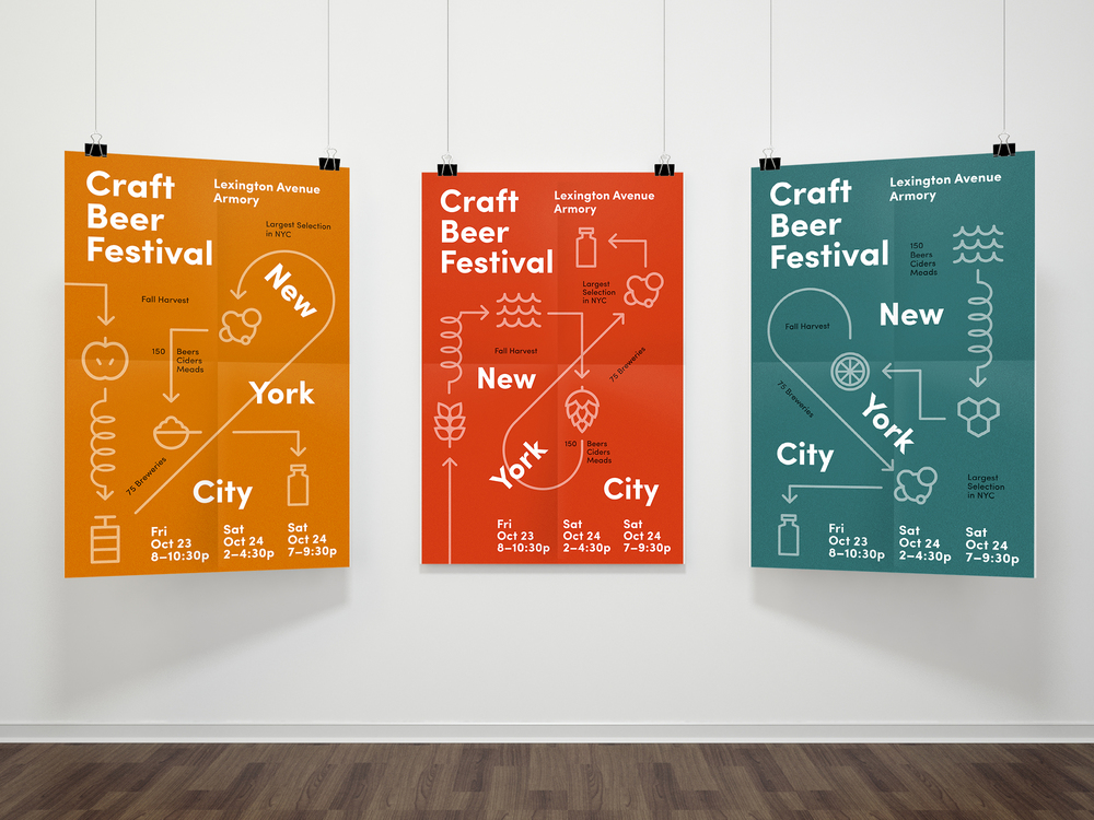 Craft Beer Festival Poster Series Lauren Peters Collaer