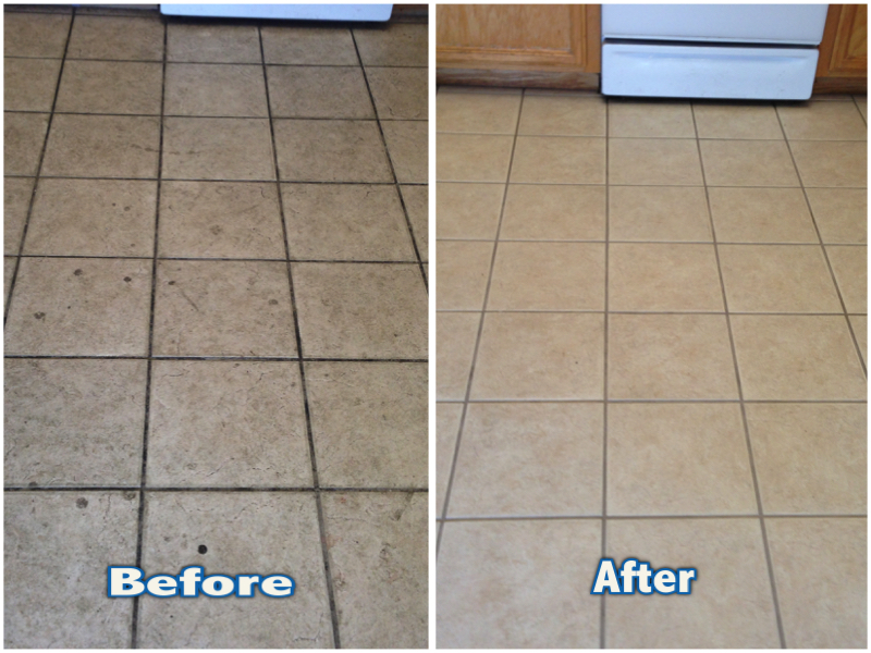 Kitchen Floor Tile and Grout Cleaning in Roseville, CA — ATR ...