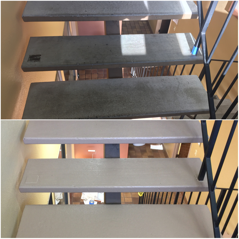 Non slip paint for stairs - Staircase Clean And Non Slip Paint Applied In Rocklin Ca