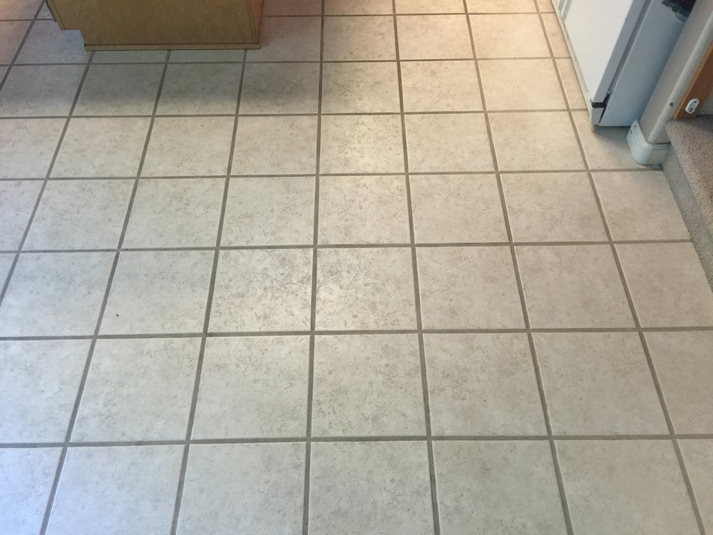 Tile floor before cleaning...