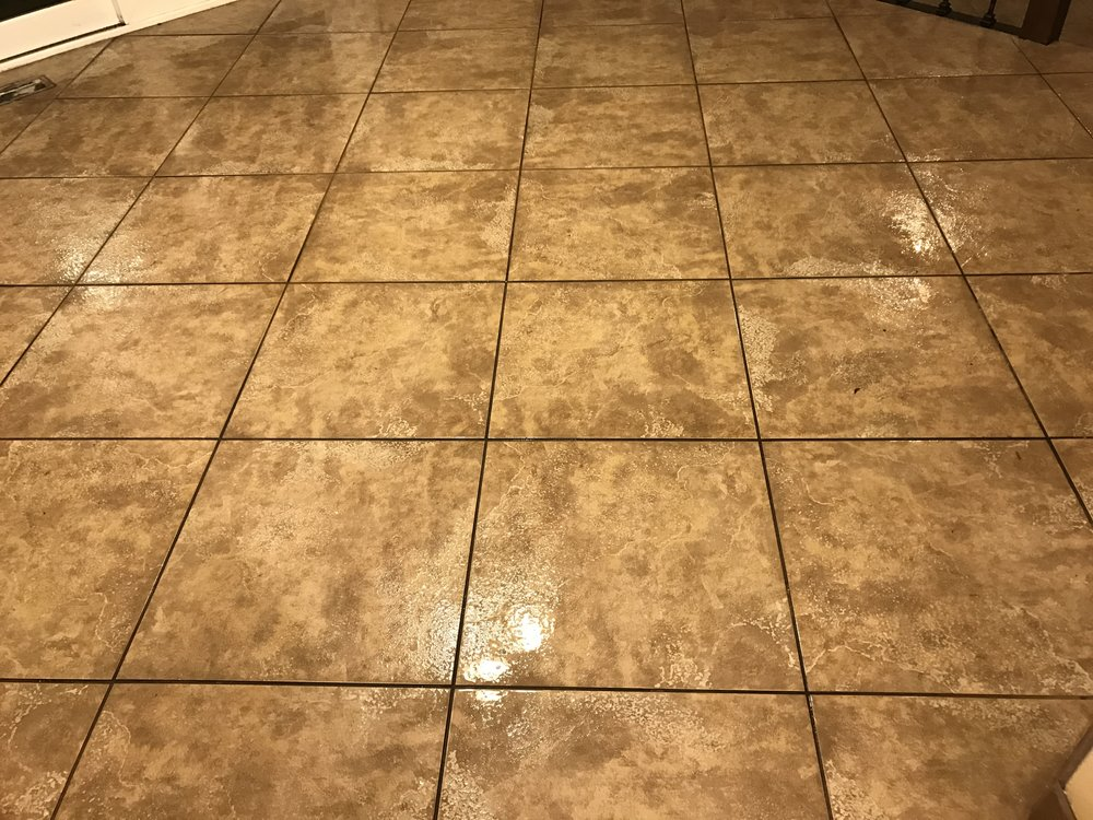 Dining Room Before Tile and Grout Cleaning
