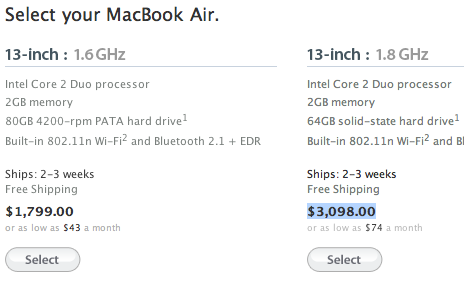 macbook air solid state hard drive