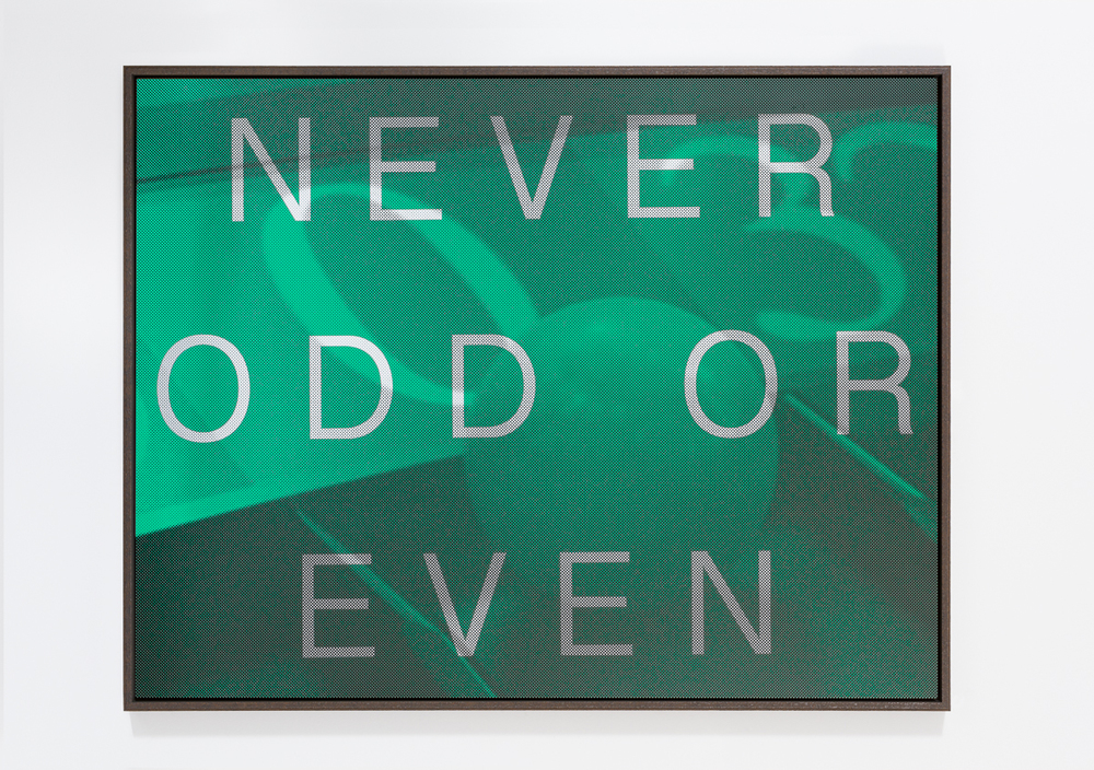 AGOM-0006 - Agostinelli, NEVER ODD OR EVEN (Roulette Zero), Matte ink on acrylic mirror, Ed 1:8, 155 x 120 cm, 2014:15.jpg