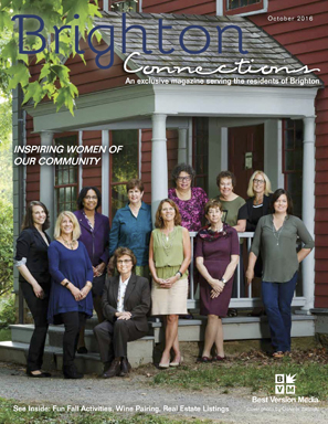 "Ruth E. Thaler-Carter  (center back in print dress) is one of the ""Inspiring Women of Our Community"" profiled in the October 2016 issue of  Brighton Connections  magazine."