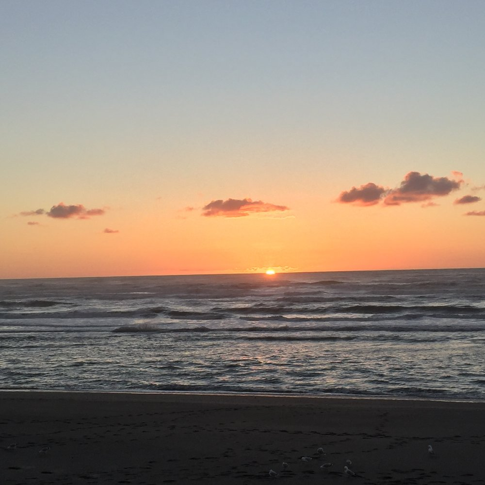 Punakaiki Beach sunset