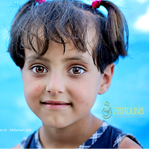 Syrian Refugee Girl on Syrian-Turkish Border
