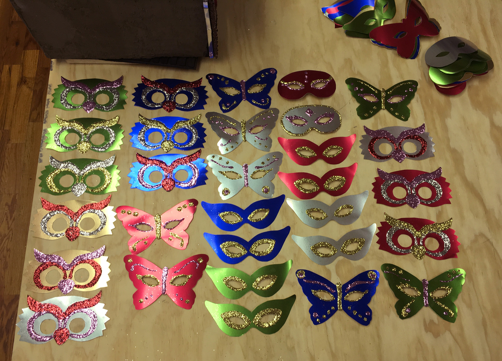 I've started making the glitter masks & I'm so excited about how cute they are!