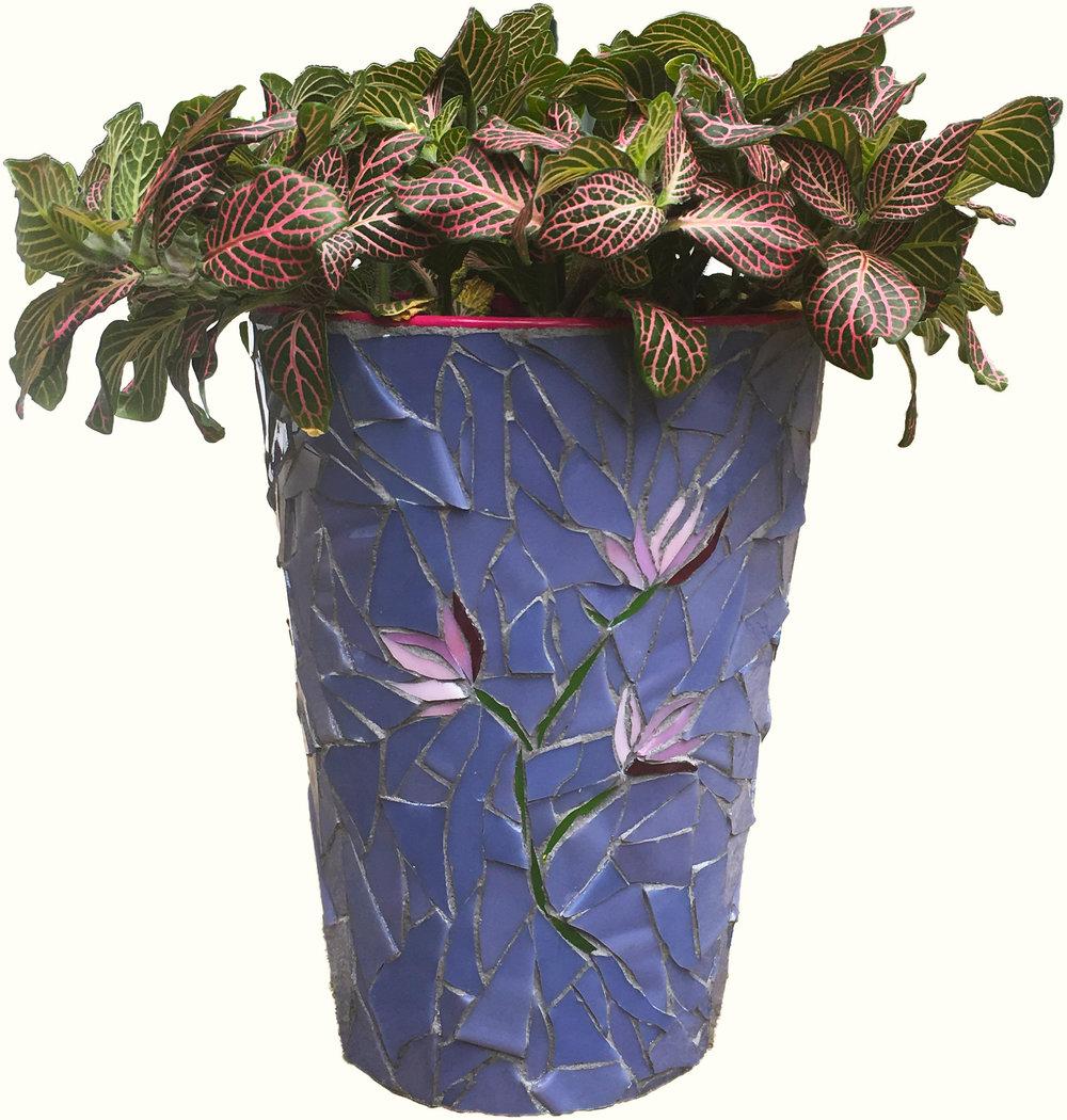 Elegant Flower Mosaic Vase