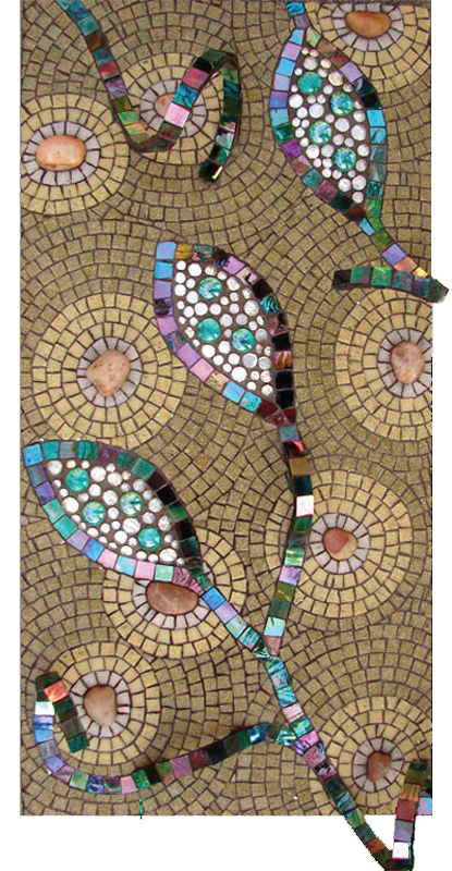 Dyanne Williams Pods Glass, Gems, Pebbles 13 inches x 26 inches