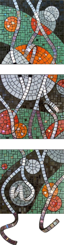 Highlights Mosaic Triptych