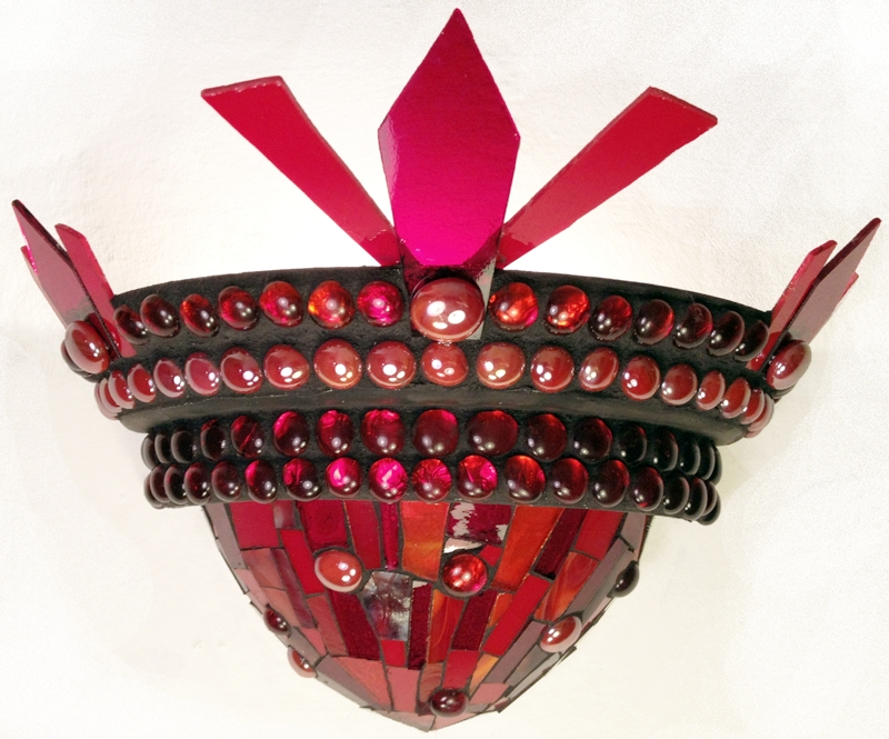 Ruby Sconce