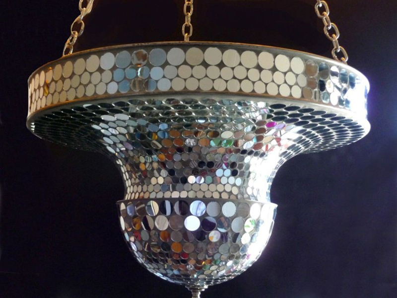 Art Deco Mirrorball Mosaic Lamp