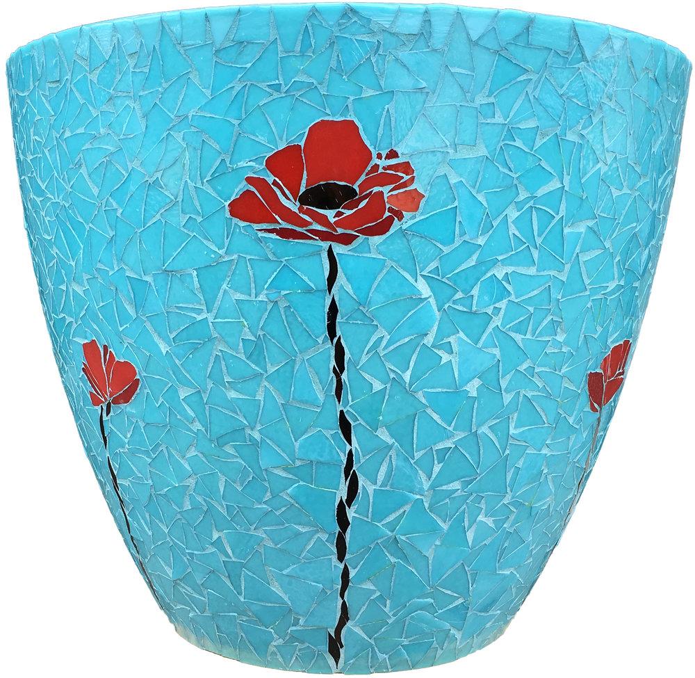 Pathway Mosaic Poppy Vase