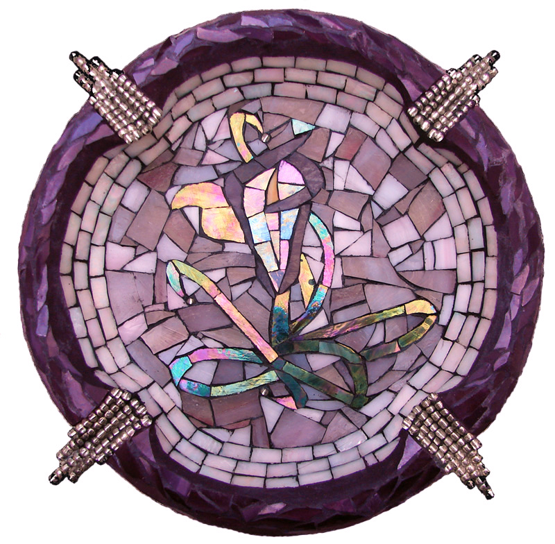Calla Lily Mosaic Ashtray