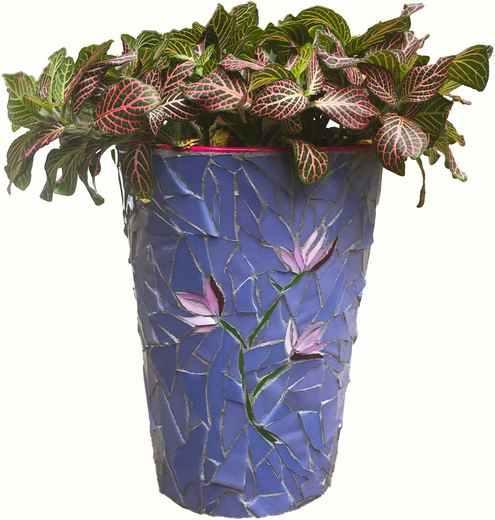 Elegant Mosaic Flower Vase