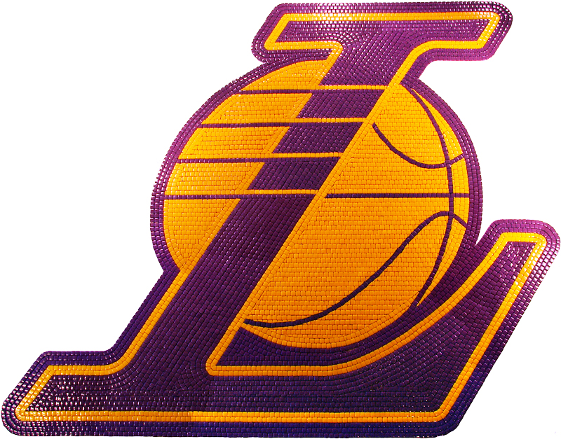 Lakers Mosaic Floor