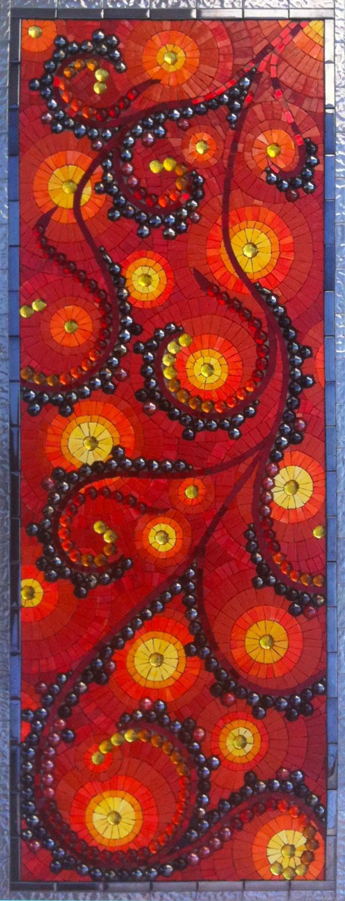 Lava Mosaic Floor