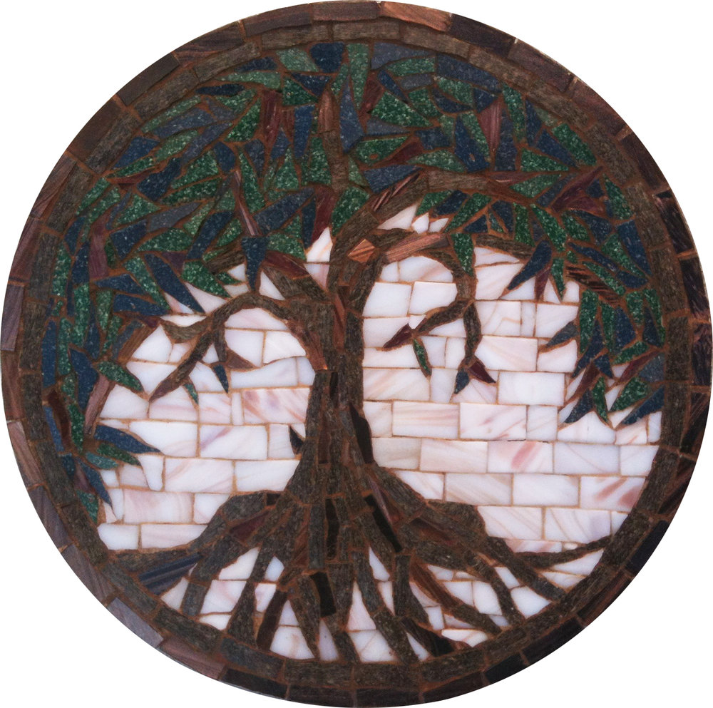 Miniature Mosaic Tree Medallion