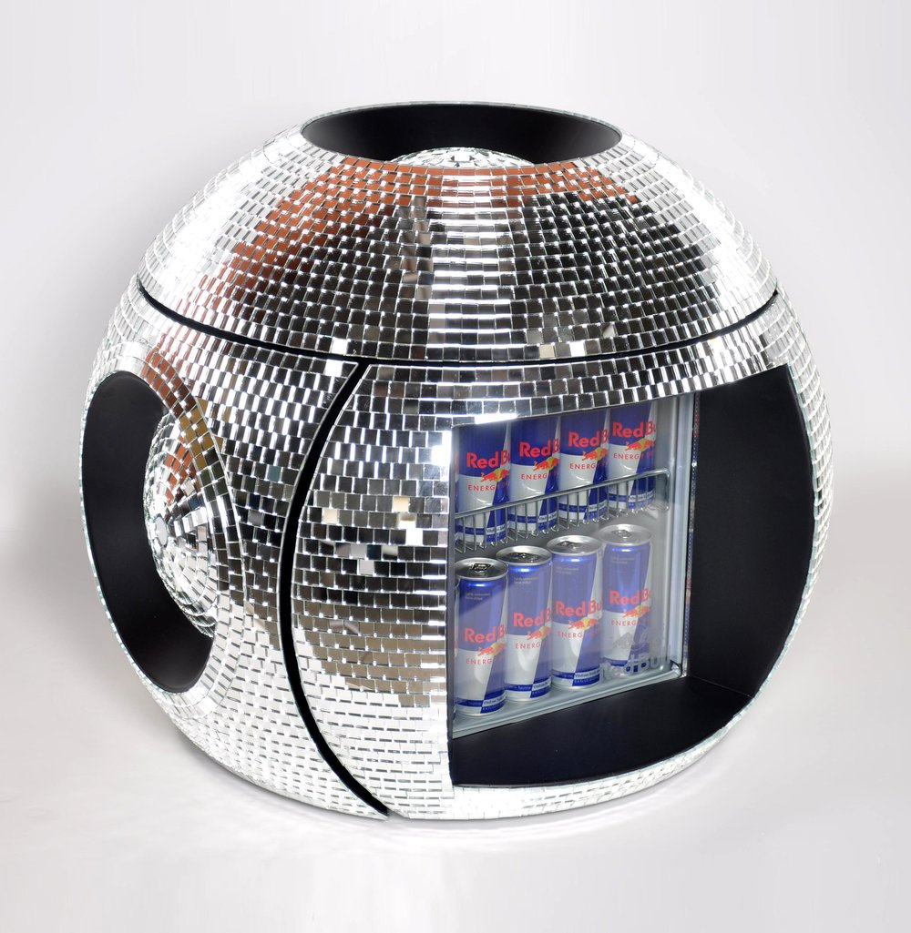 Red Bull Mosaic Disco Ball Cooler