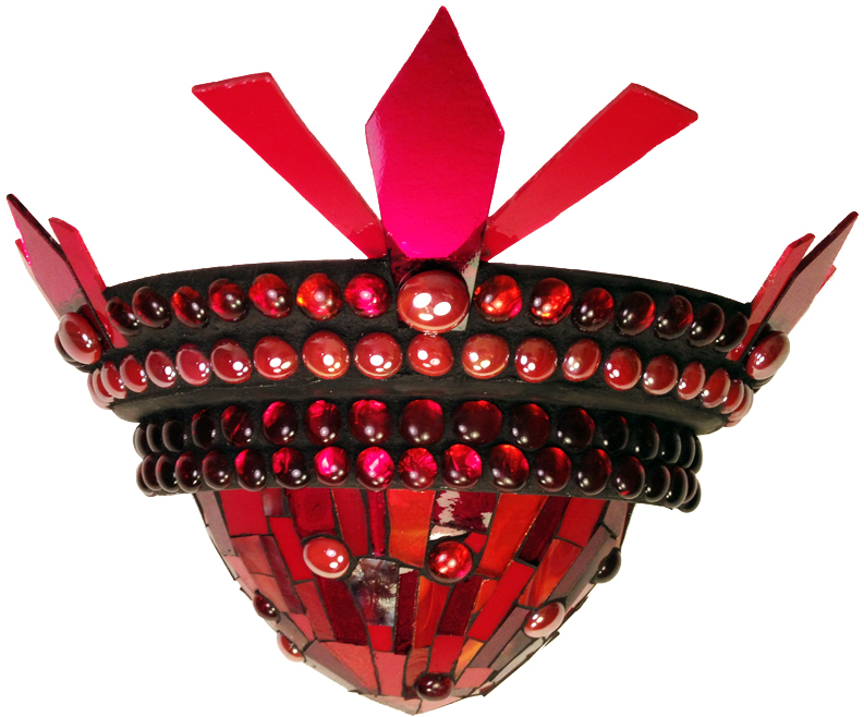 Ruby Mosaic Sconce