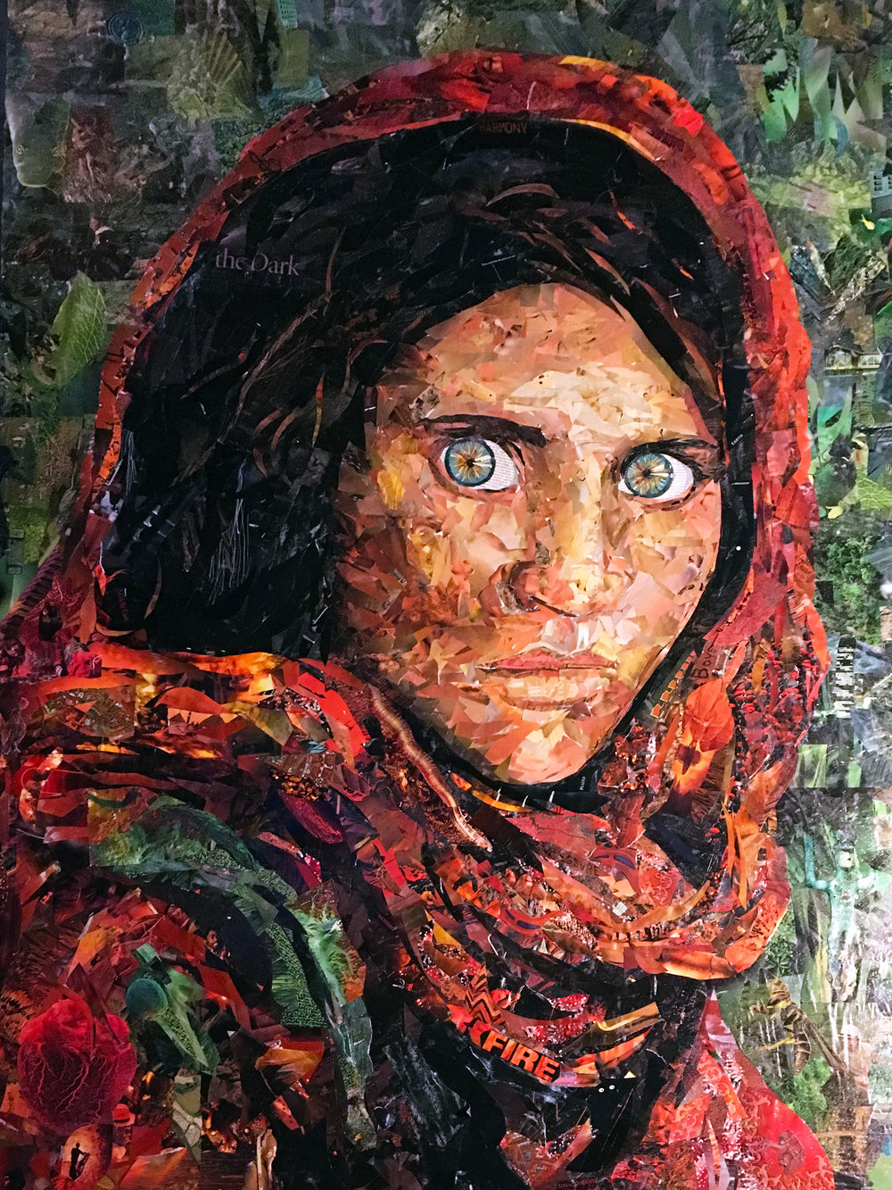 Afghan Girl Collage