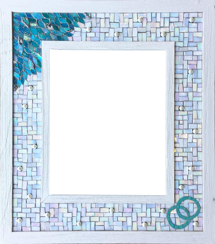 Anniversary Frame Mosaic — Dyanne Williams Mosaics