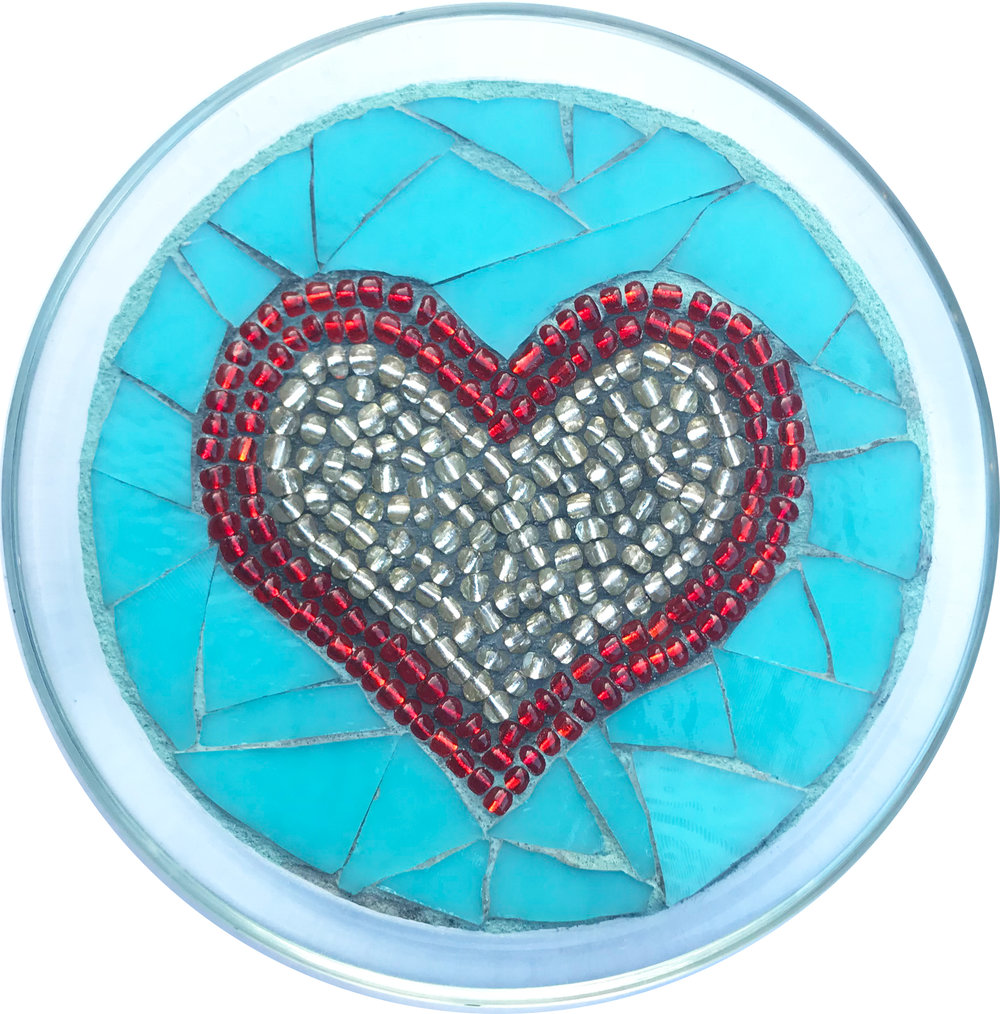 Love Heart Mosaic Plate