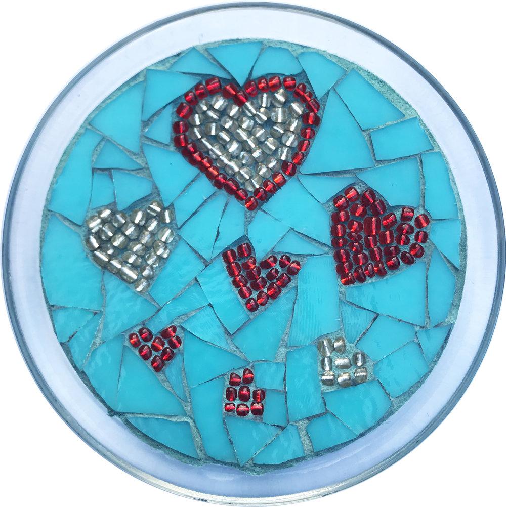 Love Multi-Heart Mosaic Plate