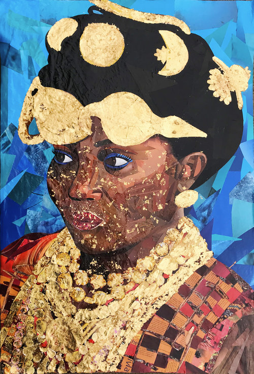 """Gold Woman (24"""" x 36"""")"""