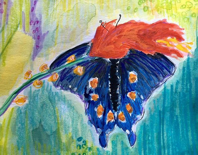 #watercolor #mixedmedia #butterflies #doitfortheprocess