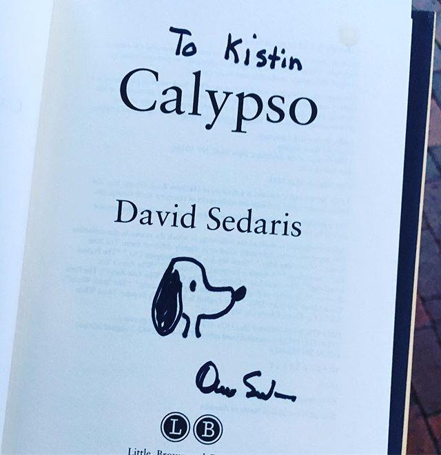 #davidsedarissignedbook #bookstagram #calypso #independentbookstore #mainstreetbooks #davidsedaris