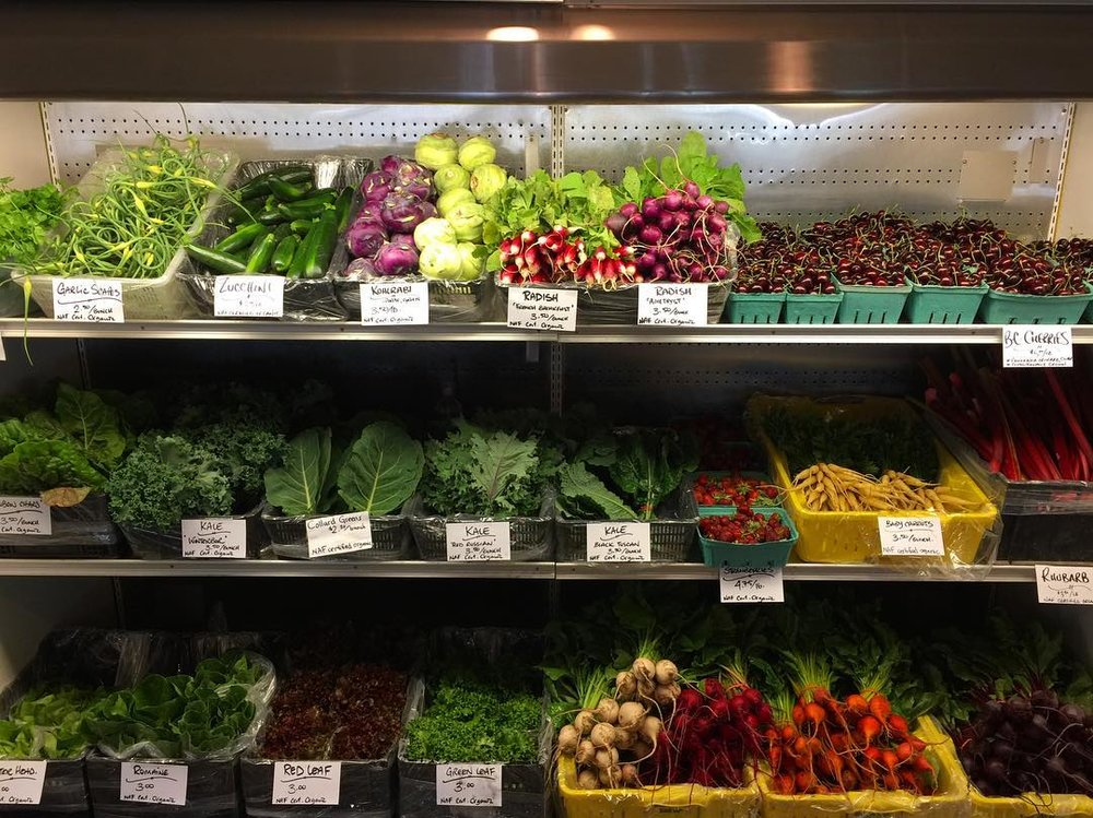 Fresh organic produce (and photo credit) from our friends at North Arm Farm, Pemberton