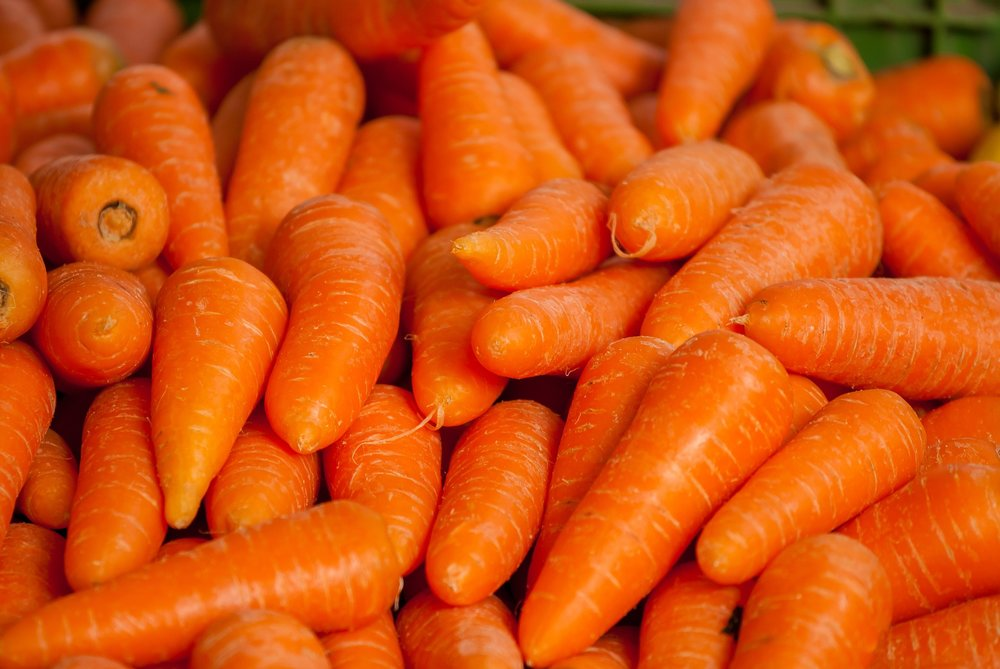 Carrots water content varies from 86% to 89% (11)