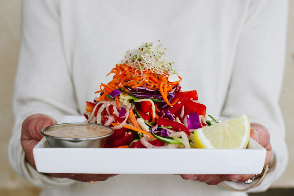 Raw Pad Thai served at The Green Moustache