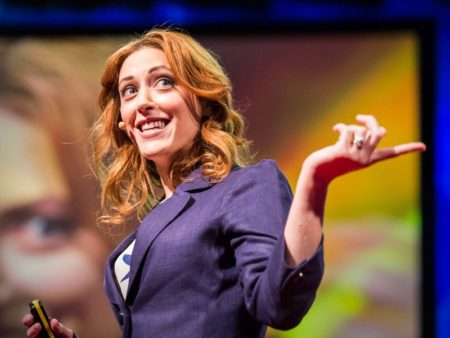Kelly McGonigal giving her TED talk
