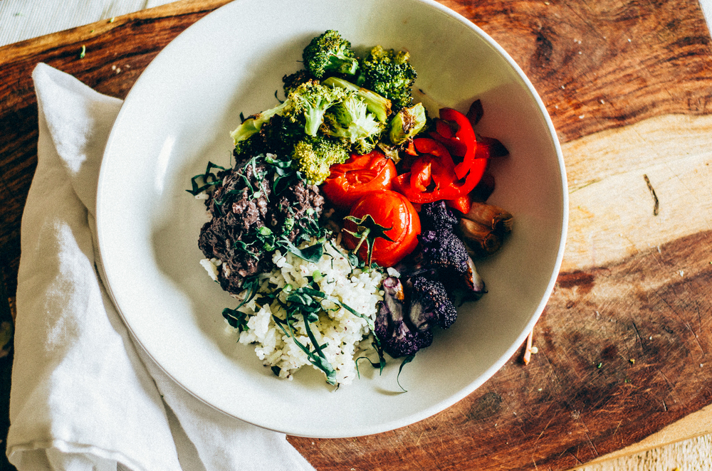 Roasted Broccoli bowl recipe with leftover black beans & rice. A wonderful way to use leftovers. thenomadicwife.com