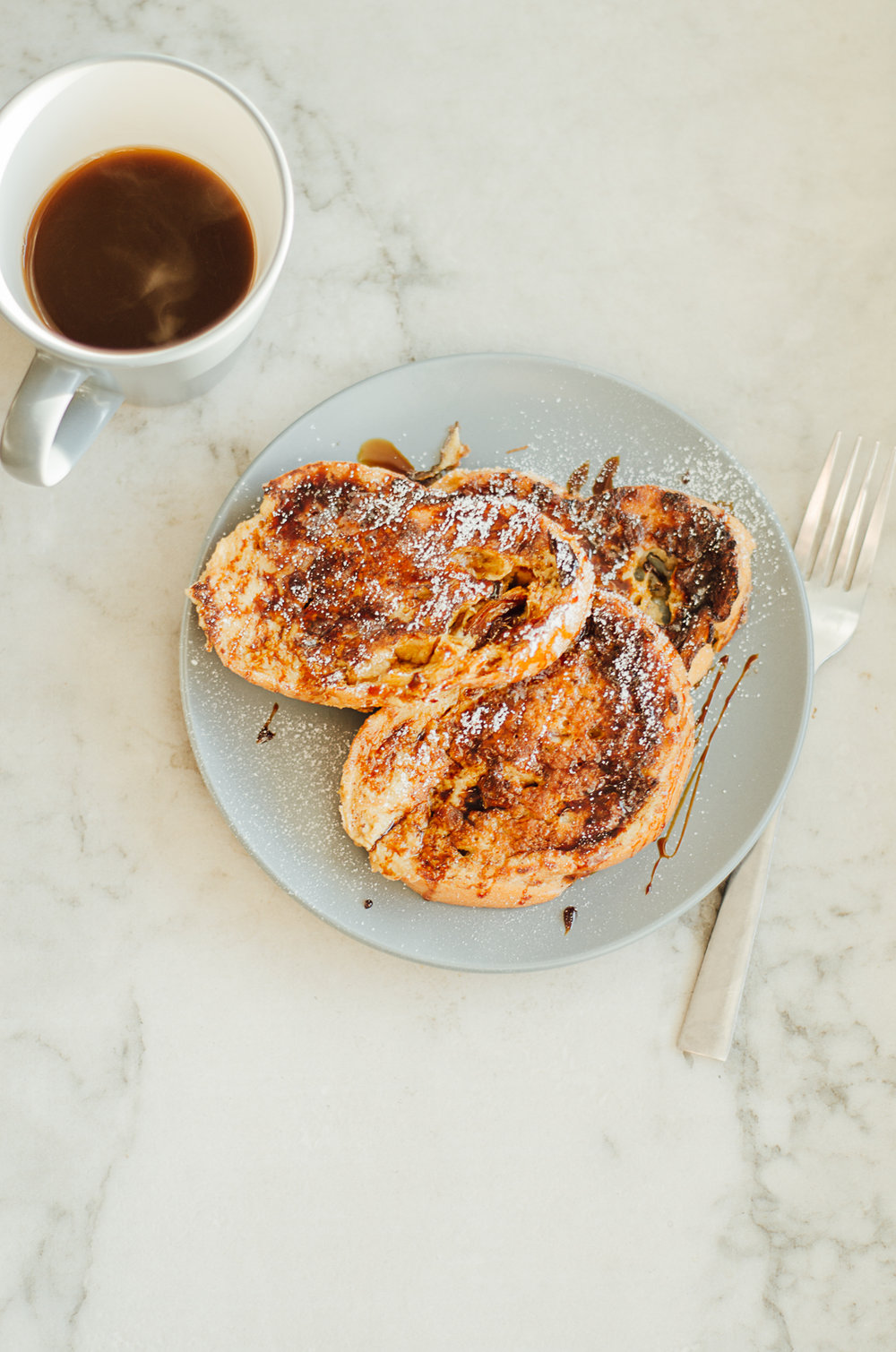 easy french toast with old sourdough bread
