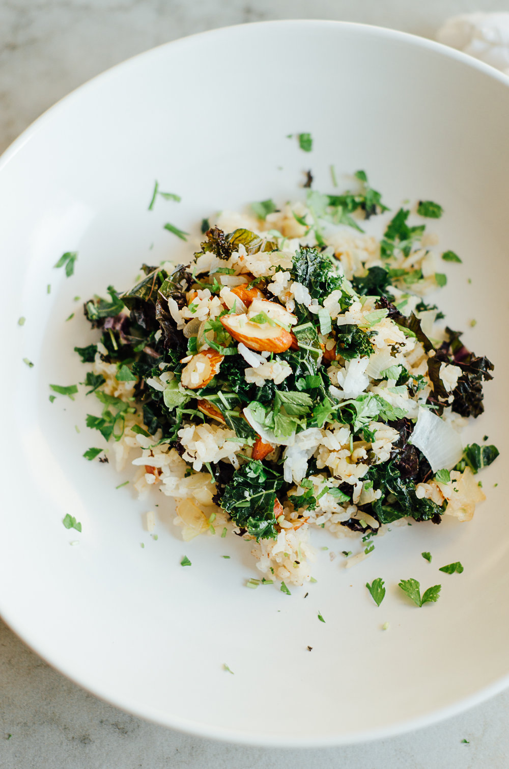 easy dinner recipe Middle eastern almond rice