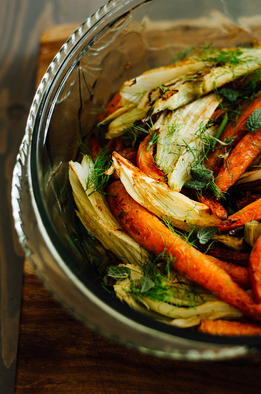 Simple baked fennel & carrots