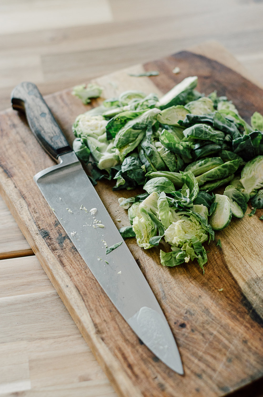 10 minute succulent brussels sprout side dish - the nomadic wife