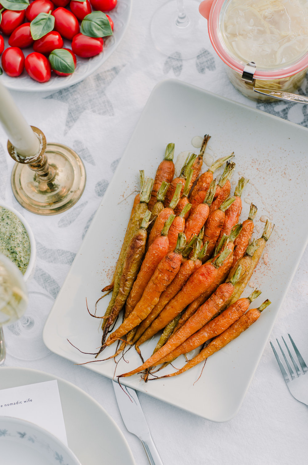 easy roasted carrots with cayenne and honey recipe by the nomadic wife